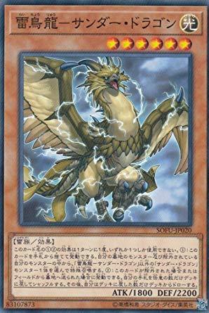 遊戯王 SOFU-JP020 雷鳥龍?サンダー・ドラゴン (日本語版 ノーマル) ソウル・フュージョン