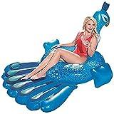 膨脹可能な浮遊列、プールの浮遊ベッド、水ラウンジチェア、水大人の大きい孔雀様式の膨脹可能な浮遊198 * 164cm