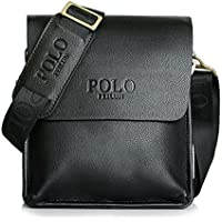 "POLO FEILUN Classic Vintage Genuine Leather Men's Briefcase Business Bag Composite Casual Shoulder Messenger Satchel Bags for Everday use 9""(L) x10.6(H) x 2.7""(W)"