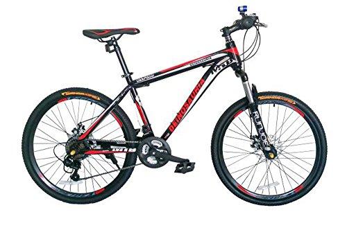 GOWAY(ゴーウェイ)マウンテンバイク 自転車 26インチ シマノ純正21段変速 Wディスクブレーキ 前輪クイックリリース(ブラック・レッド) [並行輸入品]