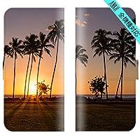 【 ankh 】 手帳型ケース 全機種対応 【 Xperia XZ2 702SO 専用 】 ハワイアン パームツリー ヤシの木 hawaii ビーチ サーフ ハワイ 海 アロハ ブック型 二つ折り レザー 手帳カバー スマホケース スマートフォン