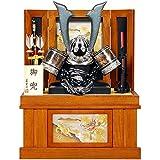 五月人形 着用 兜 収納飾り 中鍬 蔵間 古代塗 25号 幅63cm [sb-20-175]