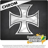 アイアンクロスアイアンクロス Iron Cross Iron Cross 11cm x 10cm 15色 - ネオン+クロム! ステッカービニールオートバイ