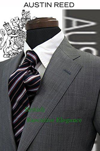 AUSTIN REED/オースチン リード/春夏物/スーツ/シルク混/グレー/無地/イタリア素材/A5/A6/A7【メンズスーツ】 A6