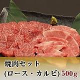 黒毛和牛 焼肉セット(ロース・カルビ) (500g)
