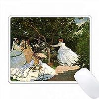 庭園のモネ絵画プリント PC Mouse Pad パソコン マウスパッド