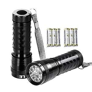 LE LEDミニ懐中電灯 2個セット 防水ハンディライト 連続点灯15時間 超軽量 電池式 ストラップ付属