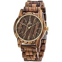 Men's Watch,UWOOD Handmade Men Women Unisex 40mm Natural Dress Wood Watch In Gift Box