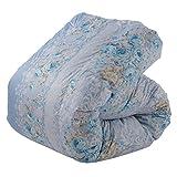 東京西川 羽毛布団 シングル フランス産シルバーダックダウン93% 日本製 抗菌防臭 花柄 ブルー KA06004060B2