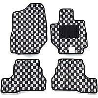 【フロアマット】 スズキ 新型 ジムニー ジムニーシエラ JB64W JB74W (オートマ車専用) チェックシリーズ ブラック×ホワイト (国内生産社外マット) JIMNY JIMNYSIERRA