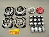【デイトナスタイル】純正スチール用デイトナクロームキャップ 4-100用ロータイプ ホンダ車用