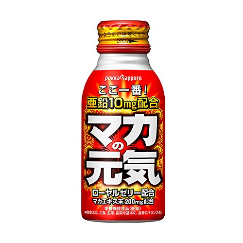 ポッカサッポロ マカの元気ドリンク 100mlボトル缶×30本入×(2ケース)