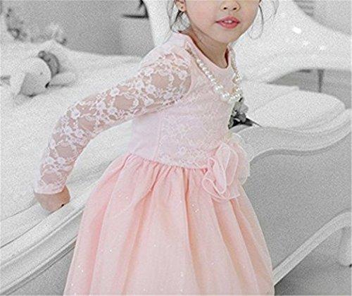 Candykids子ども/フォーマル/ホワイト/女の子/ 卒業式/スーツ/ピアノ/結婚式/面接/七五三/入学式/ お姫様 ドレス お出かけ 結婚式 (120cm, ピンク)