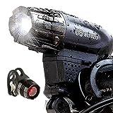 自転車ライト BLITZU ヘッドライト サイクルライト 自転車用LEDライト 2500mah USB充電式 4モード 最大七時間使用 SOS機能付き 交通事故防止 設置簡単 脱落しにくい IPX5防水 防災対策 釣り ハイキング等 ブラック GATOR320