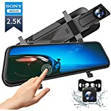 "VanTop H610 10"" 1440P Mirror Dash Cam for Cars with Full Touch Screen, Waterproof Rear View Mirror Camera, Enhanced Night Vision with Sony Starvis Sensor, Parking Assistance"