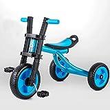 子供の三輪車バイク2-5歳の赤ちゃんのおもちゃ赤ちゃんのキャリッジキッズバイク、緑、赤、青 ( Color : Blue )