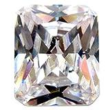 銀粘土用 合成石 合成石長角 ダイヤ 10×12mm 1個