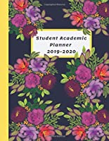 Student Academic Planner 2019-2020: Purple Flowers Daily Organizer Calendar Class Schedule, School Assignment Tracker, Grade Log Book, Goals, Notes Pages, Weekly Monthly (School Organizer)