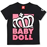 BABYDOLL(ベビードール) 斜め王冠Tシャツ ベビー キッズ 140cm ピンク