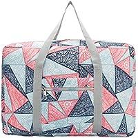 旅行のポータブルストレージバッグ幾何学模様高品質の防水防湿オックスフォード布トラベルオーガナイザー羽毛布団の衣服移動仕上げ荷物袋 (サイズ さいず : 43 * 15 * 31cm)