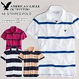 メンズ 半袖 鹿の子ポロシャツ AE ATHLETIC FIT PIQUE POLO アメリカンイーグルアウトフィッターズ画像①