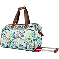 Lily Bloom Luggage Designer Pattern Suitcase Wheeled Duffel Carry On Bag
