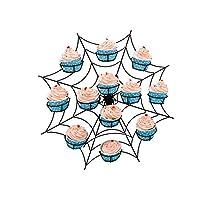 ケーキスタンド 結婚披露宴用家具アクセサリーデザートサービングトレイ白鉄観覧車8カップケーキディスプレイスタンドケーキホルダー 結婚式ホーム パーティー 誕生日 (色 : D, サイズ : ワンサイズ)