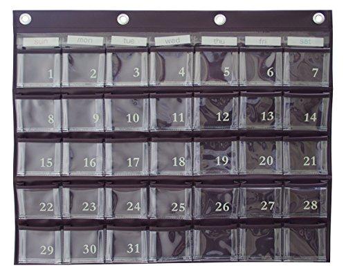 カレンダーポケット Mサイズ ブラウン W-416