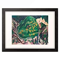 エルンスト・ルートヴィヒ・キルヒナー Ernst Ludwig Kirchner 「Galtviehweide」 額装アート作品