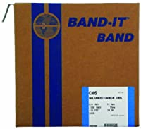 BAND-IT C30599 Galvanized Carbon Steel Band, 5/8 Width X 0.030 Thick, 100 Feet Roll by Band-It