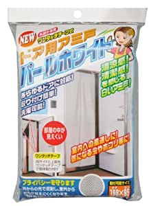 ノムラテック NEW 外開き専用 ワンタッチテープ式 ドア用アミ戸 パールホワイト N-1218