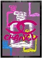アートショップ フォームス ブランドオマージュアート/クレイグ・ガルシア「シャネル/No5/香水3c」ポスター (ブラック)