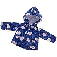 Lovoski 全3色 1/6 BJD SD人形用 アクセサリー かわいい ボタンデザイン ウサギ コート 服装  - ブルー