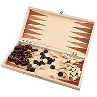 国際 チェスセット玩具 木製 携帯型 折りたたむボード ポータブル子供 旅行 家庭 娯楽 エンターテイメントゲーム プレゼント