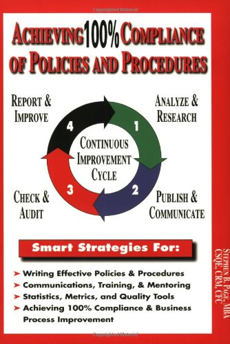 Download Achieving 100% Compliance of Policies and Procedures 1929065493