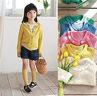 キッズ セーター ブルニット ラウンドネック カーディガン 厚手 長袖 女の子 韓国子供服