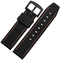 ドットタウン 腕時計ラバーベルト パネライタイプ 24mm 6va. RSB061-ORBK 橙糸×黒尾錠 [並行輸入品]