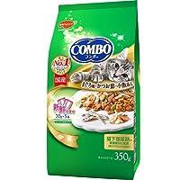 (まとめ買い)日本ペット コンボ キャット まぐろ味・かつおぶし・小魚添え 350g 猫用 キャットフード 【×10】