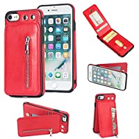 Happon iPhone 5 iPhone 5s Wallet Multi Card Holder Phone Case Slim Wallet case Folio PU Leather Cover With Wallet case Case Replacement for iPhone 5 iPhone 5s - Red