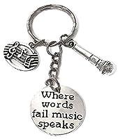 マイクKeychian音楽、キーチェーン、Musci音楽注キーチェーン、マイクキーリング、キーリング、音楽マイク音声チャームキーチェーン