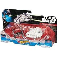 Hot Wheels ホットウィール Star Wars スター・ウォーズ ダイキャスト ビークル TIEファイター (タイ・ファイター  Tie Fighter) vs. ミレニアム ファルコン (Millennium Falcon)