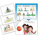 Sports Flashcards in German Language - Flash Cards with Matching Bingo Game for Toddlers, Kids, Children and Adults - Size 4.13 × 5.83 in - DIN A6