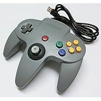 PC-USB N64(ニンテンドウ64)型コントローラー(グレー)(ノーブランド品)