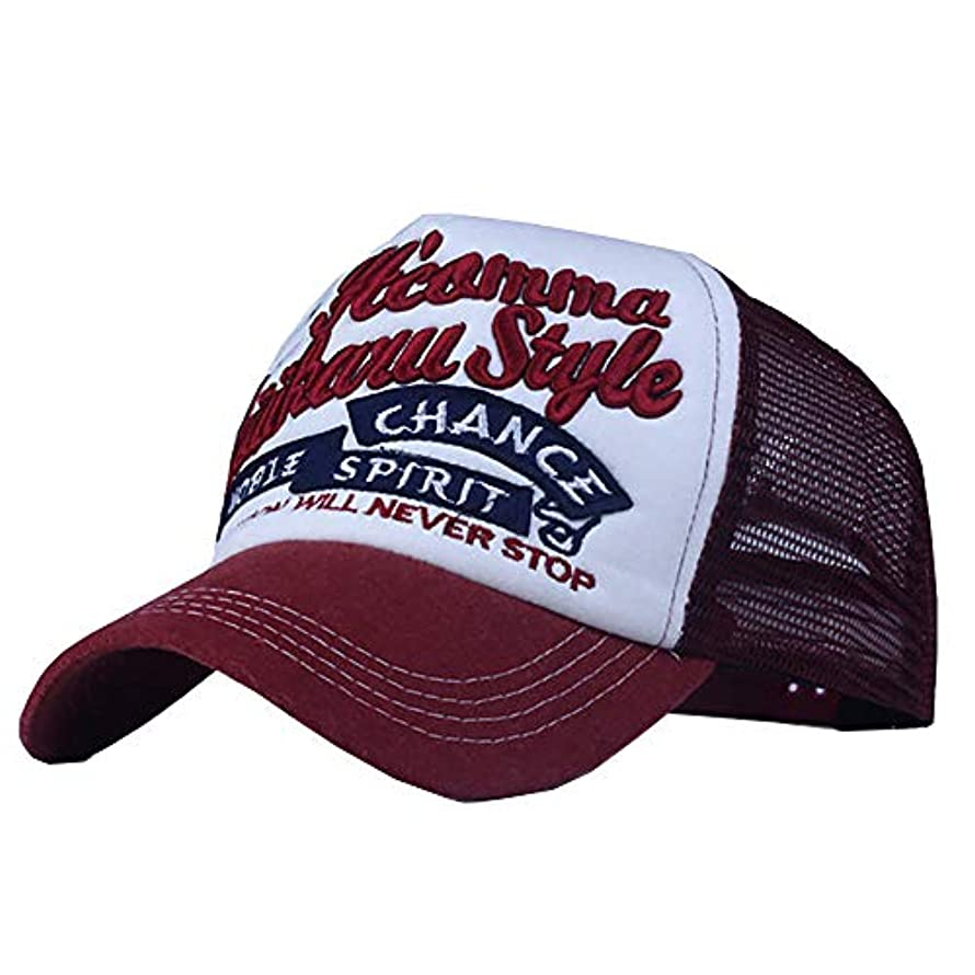 どんよりした自動的に構想するRacazing パッチワーク 野球帽 ヒップホップ メンズ 夏 登山 帽子メッシュ 可調整可能 プラスベルベット 棒球帽 UV 帽子 軽量 屋外 Unisex 鸭舌帽 Hat Cap