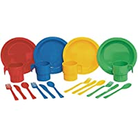 Constructive Playthings asc-796 Indestructible Pretend Play Dishes – Service for 4