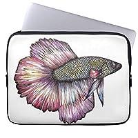 """UDDESIGN 10インチ ラップトップバッグ ブリーフケース プロテクターカバー ノートパソコン バッグ ラップトップ 衝撃吸収 9.7インチ iPad Pro / 12"""" MacBook用 カラフルな魚 ラップトップスリーブ"""
