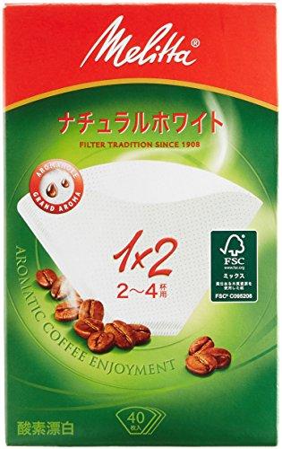 メリタ フィルターペーパー アロマジック ナチュラルホワイト【2~4杯用 40枚入】PA1X2
