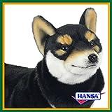 HANSA ハンサ ぬいぐるみ 7242 黒柴 50 SHIBA DOG BLACK