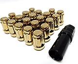 M12 P1.25 テーパー 60 花型 袋 タイプ スチール ロックナット ゴールド 20本 セット 手袋 付き