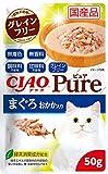チャオ (CIAO) キャットフード Pure パウチ まぐろ おかか入り 50g×16個 (まとめ買い)